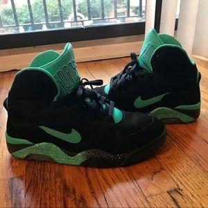 Nike Air Force 180 High Black/Teal Sz 10.5